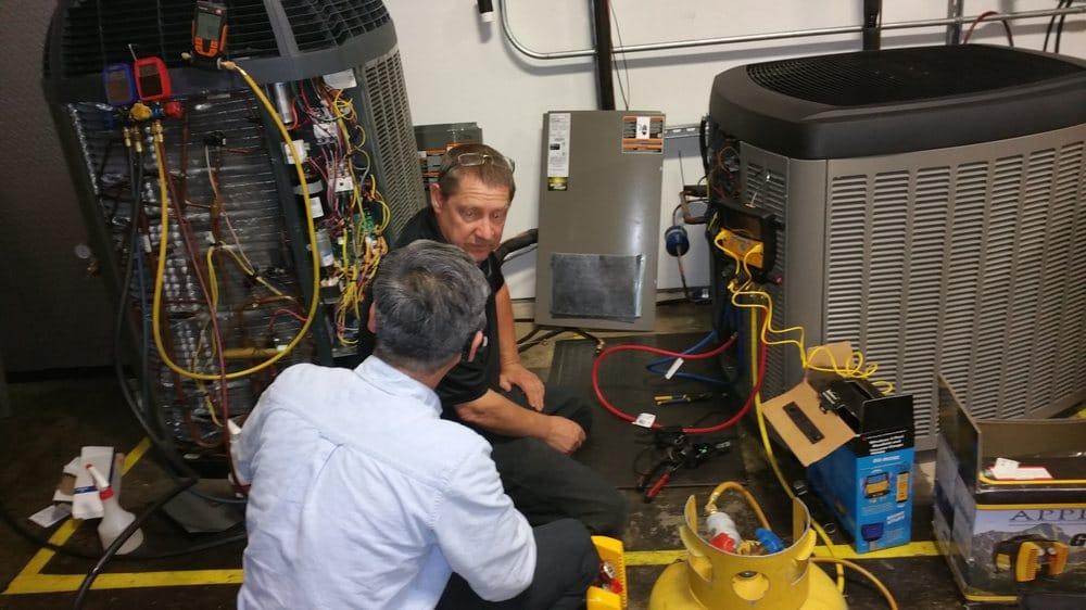 A furnace repair